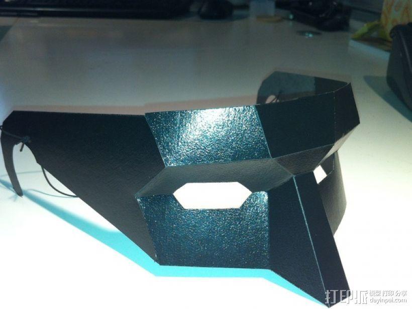 低多边形面具 3D打印模型渲染图