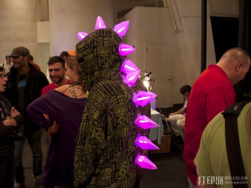 LED恐龙服装 3D打印模型渲染图