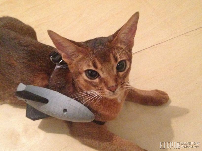 战斗中的猫咪 3D打印模型渲染图
