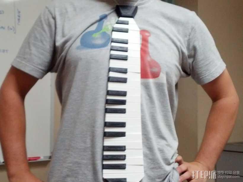 钢琴键领带 3D打印模型渲染图