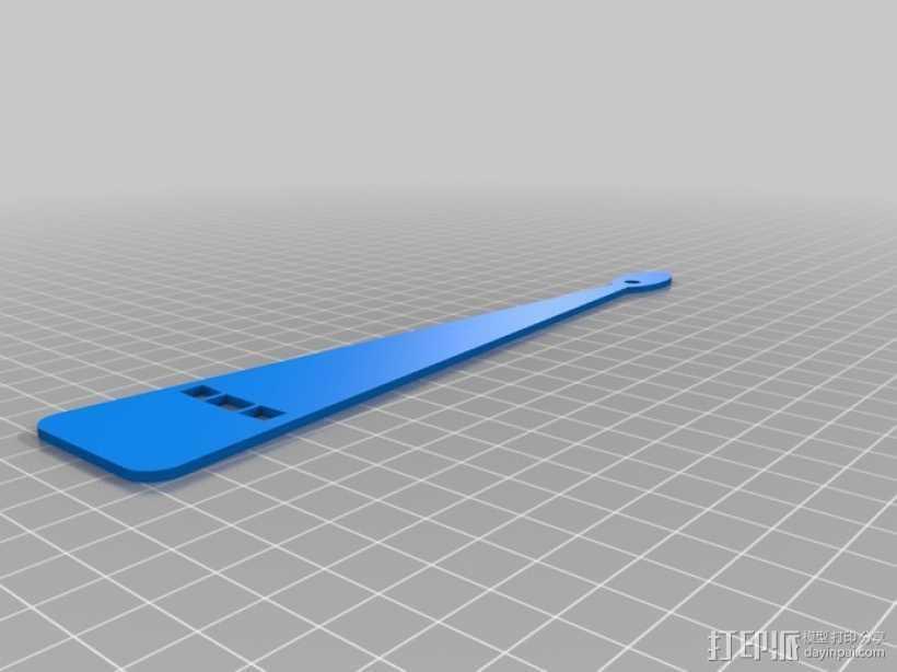 扇子 3D打印模型渲染图