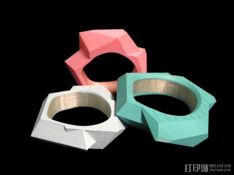 几何手镯 3D打印模型渲染图