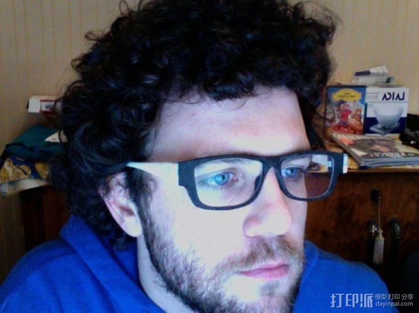 眼镜框/眼镜架零部件 3D打印模型渲染图