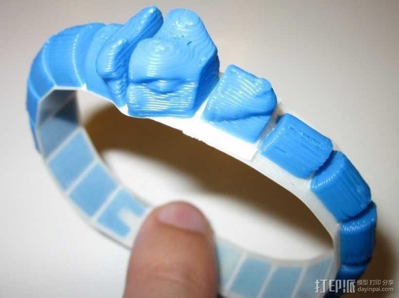 蛇形手环 3D打印模型渲染图