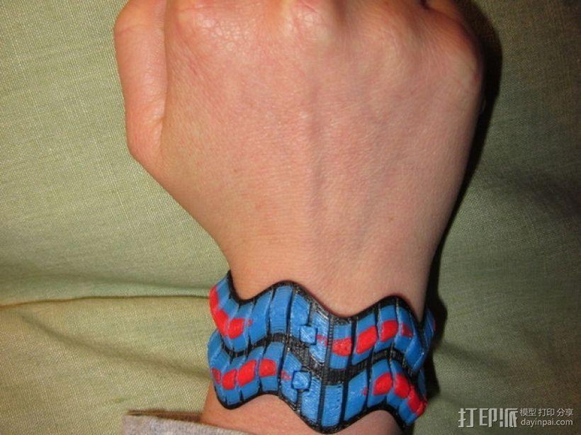 灵活性手环 3D打印模型渲染图