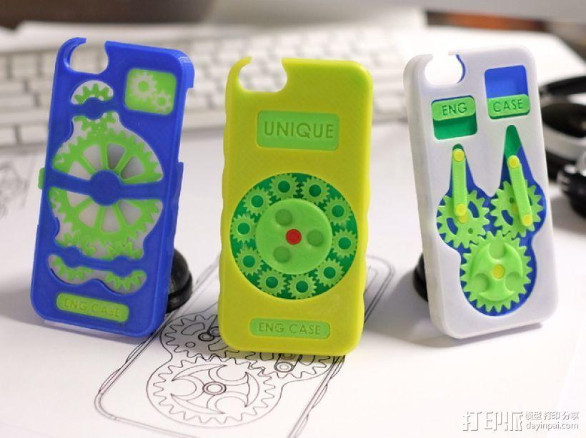 齿轮形手机壳/手机套 3D打印模型渲染图