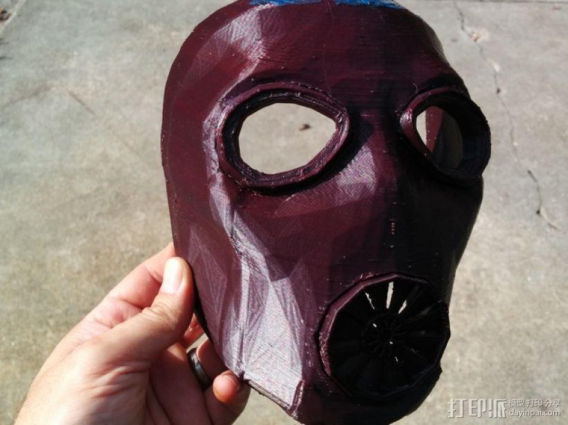 游戏《无主之地2》面具 3D打印模型渲染图