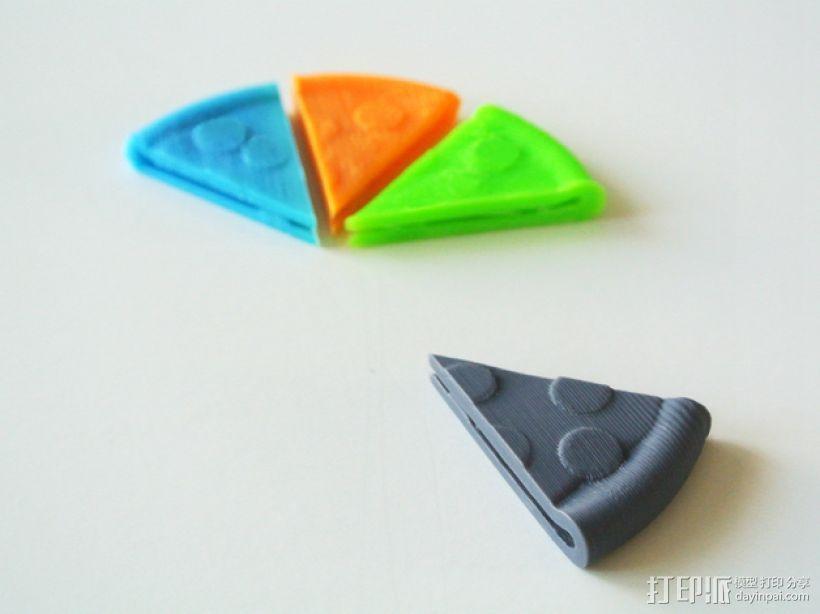披萨形钱夹 3D打印模型渲染图