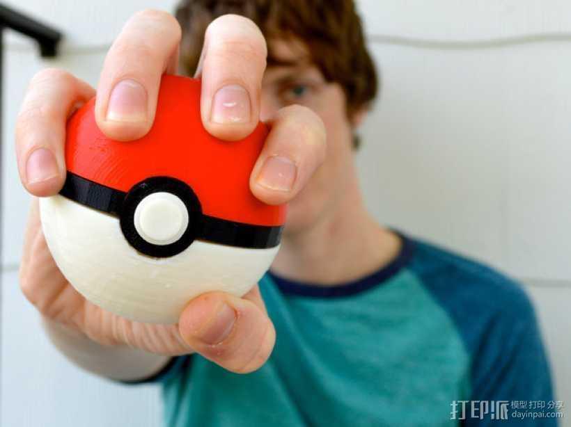 磁力神奇宝贝球 3D打印模型渲染图