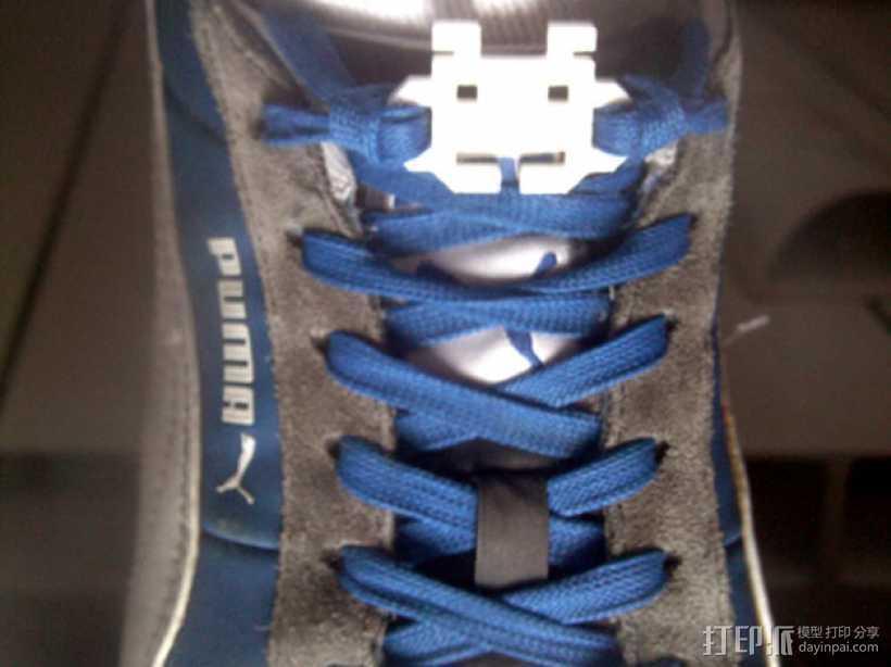 太空入侵者鞋带固定装置 3D打印模型渲染图