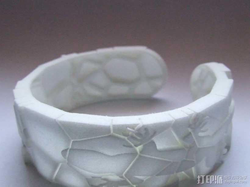 蜥蜴形手镯 3D打印模型渲染图
