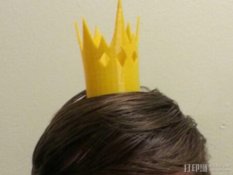《童话高中:青蛙王子的儿子》:迷你王冠 3D打印模型渲染图