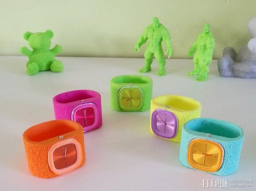 灵活绒毛手表 3D打印模型渲染图