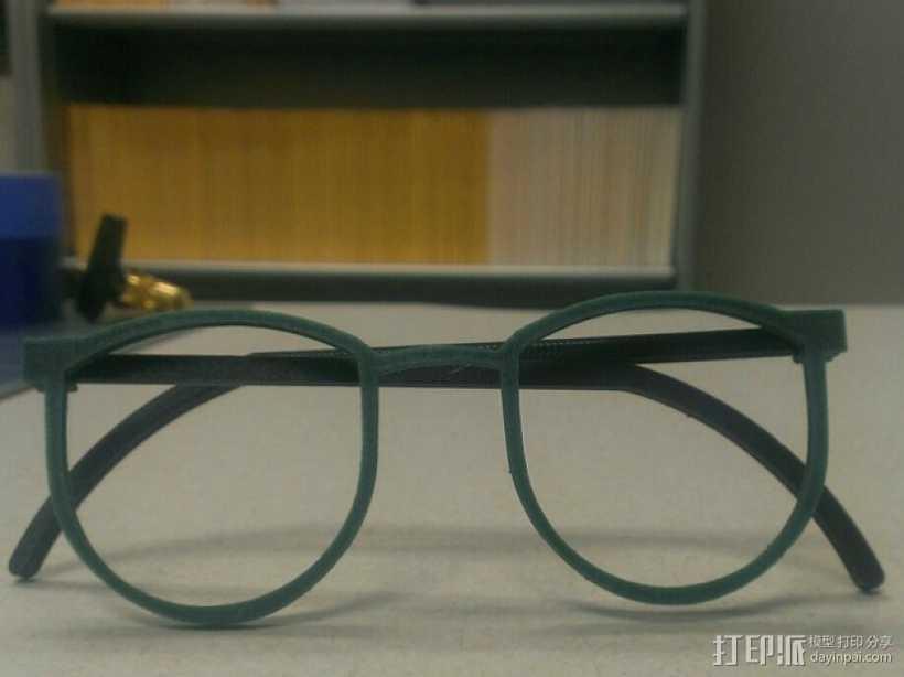 轻薄眼镜框/墨镜框 3D打印模型渲染图