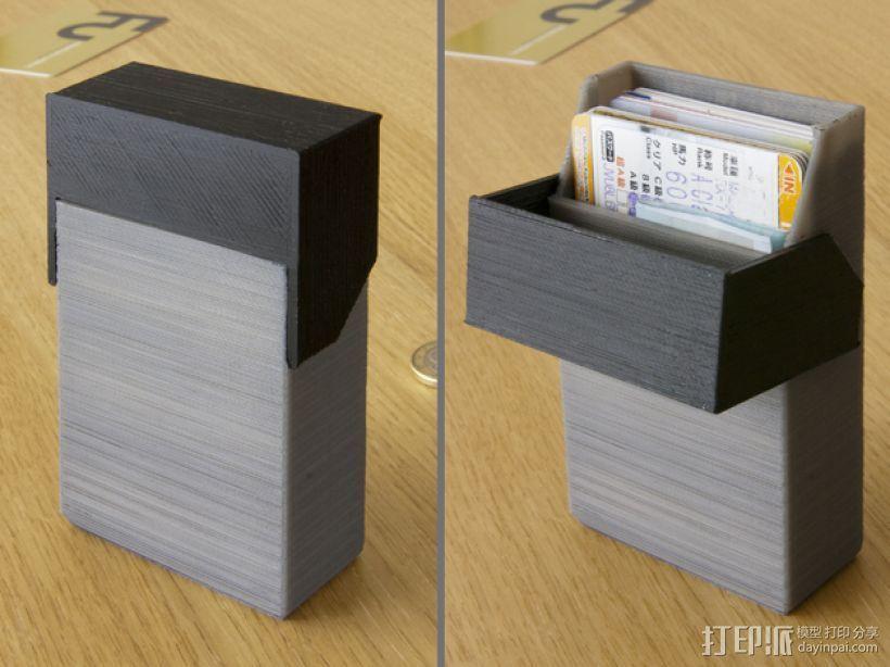 简洁方形钱包 3D打印模型渲染图