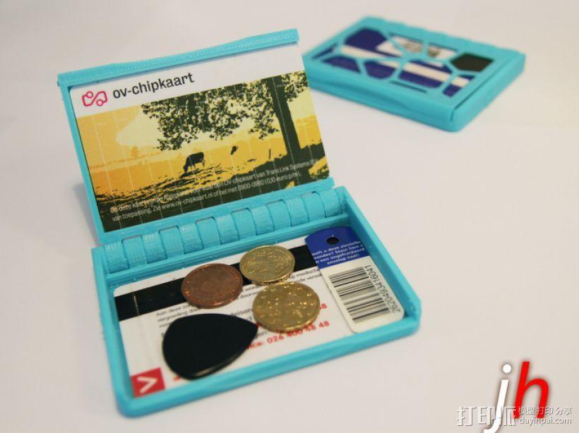 盒式磁带型钱包 3D打印模型渲染图