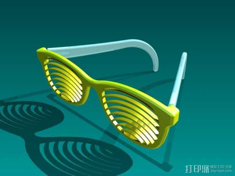 太阳镜/墨镜 3D打印模型渲染图