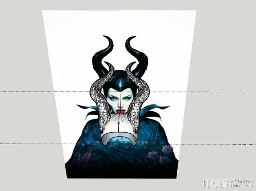 电影《沉睡魔咒》玛琳菲森的角 3D打印模型渲染图