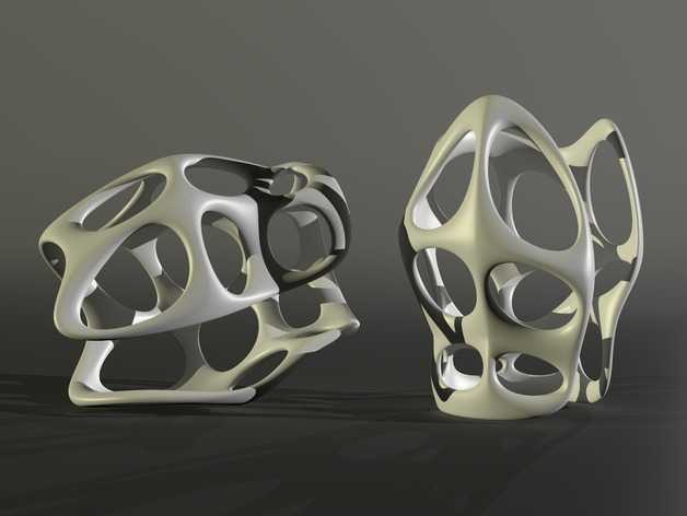 镂空手镯 3D打印模型渲染图