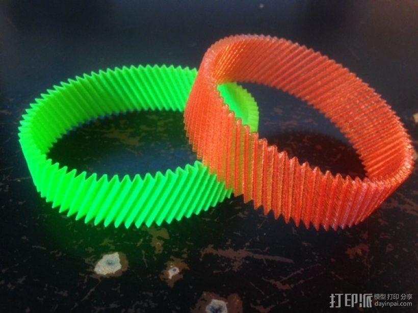 定制化RIB手环 3D打印模型渲染图