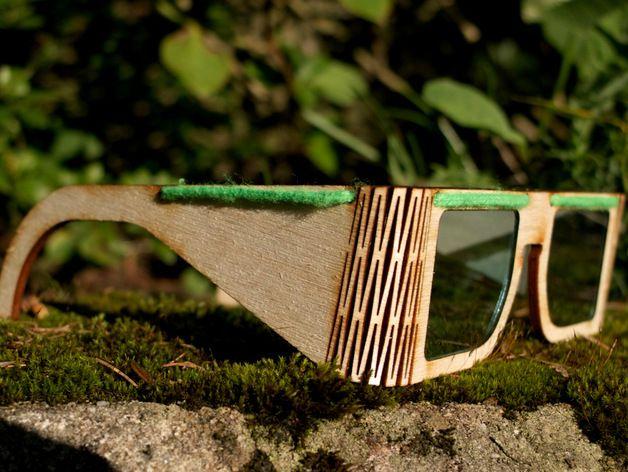 木质眼镜框 3D打印模型渲染图