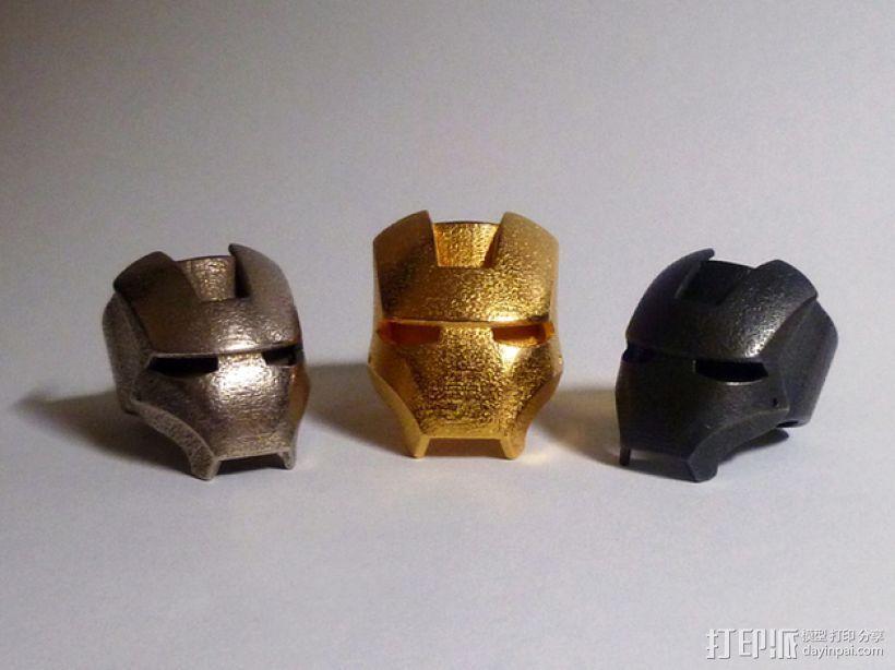 钢铁侠戒指 3D打印模型渲染图