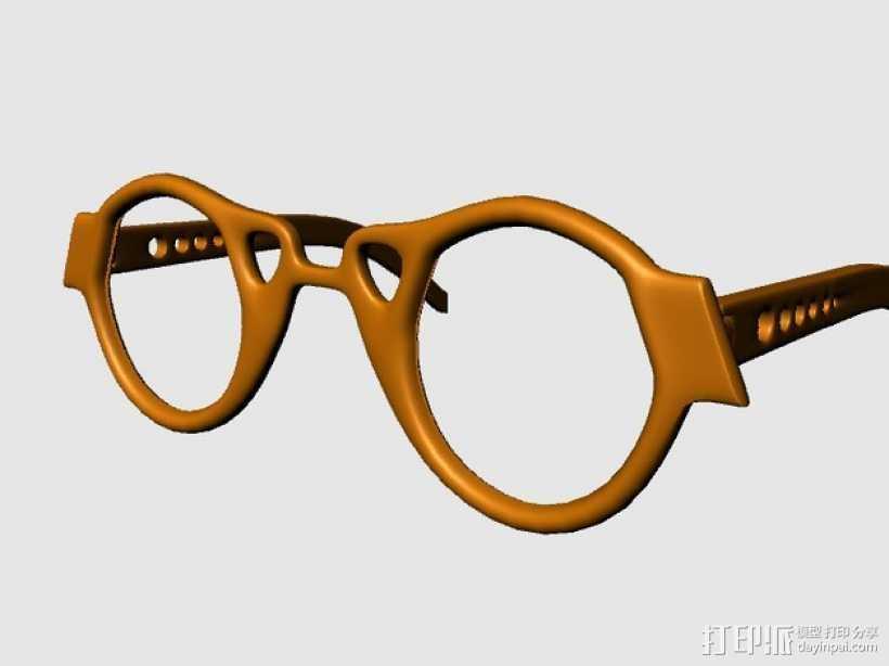 个性眼镜框 3D打印模型渲染图