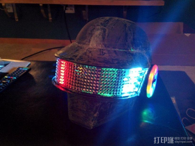 """""""傻瓜朋克""""乐队头盔 3D打印模型渲染图"""