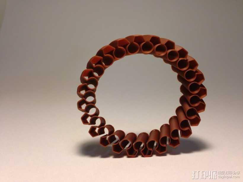 定制化褶饰边手镯 3D打印模型渲染图