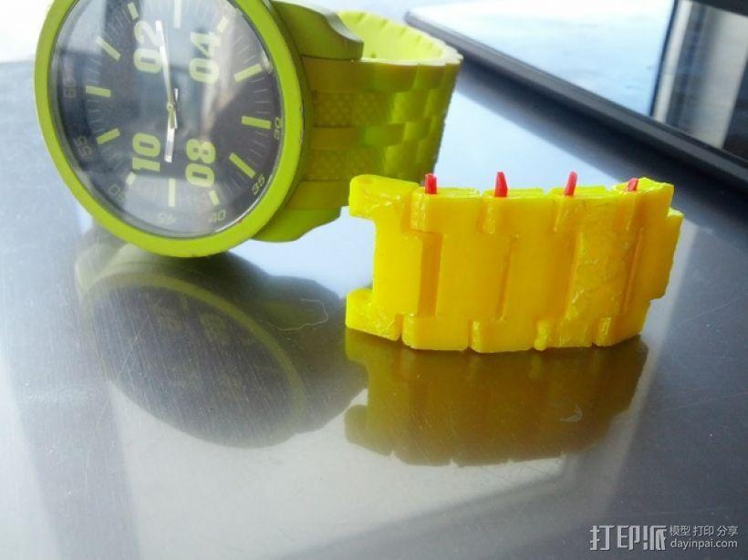 手表表带 3D打印模型渲染图