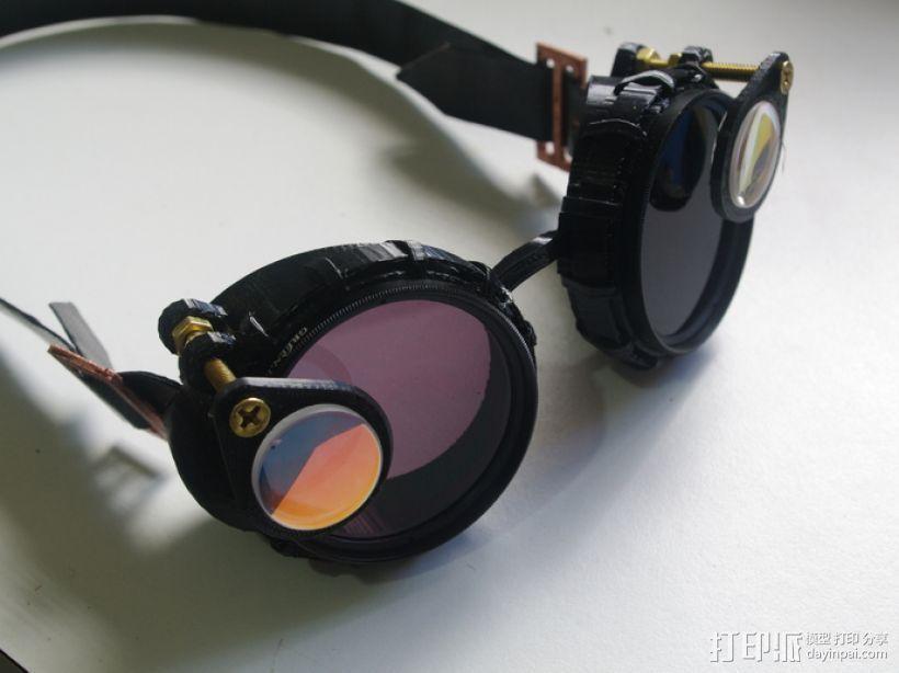 带有滤光镜功能护目镜 3D打印模型渲染图