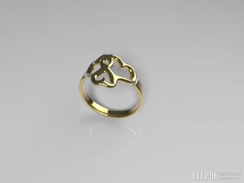 心形戒指 3D打印模型渲染图