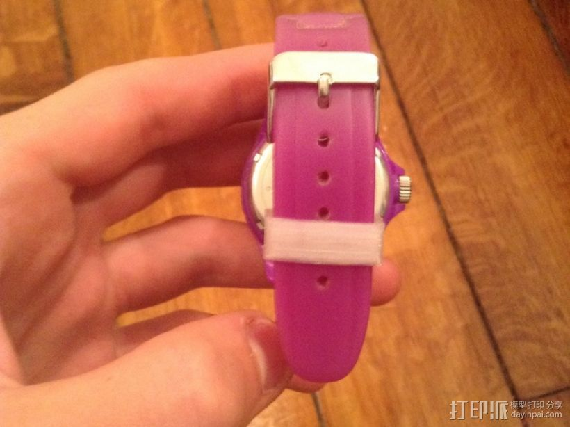 Ice Watch手表表带零部件 3D打印模型渲染图