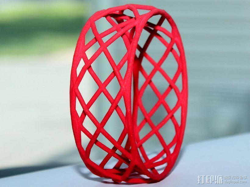 参数化镂空手镯 3D打印模型渲染图