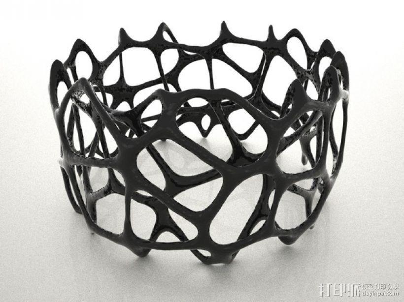 多边形镂空手镯 3D打印模型渲染图