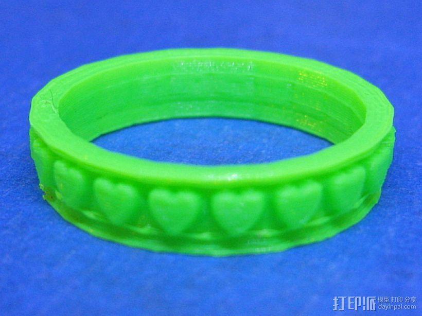 参数化心形戒指 3D打印模型渲染图