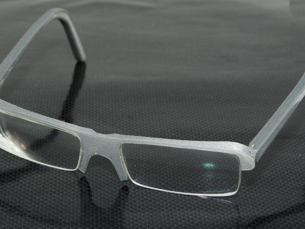眼镜框 3D打印模型渲染图
