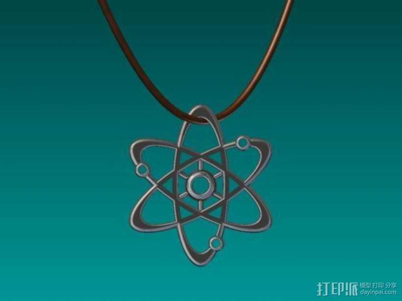 原子行星吊坠 3D打印模型渲染图