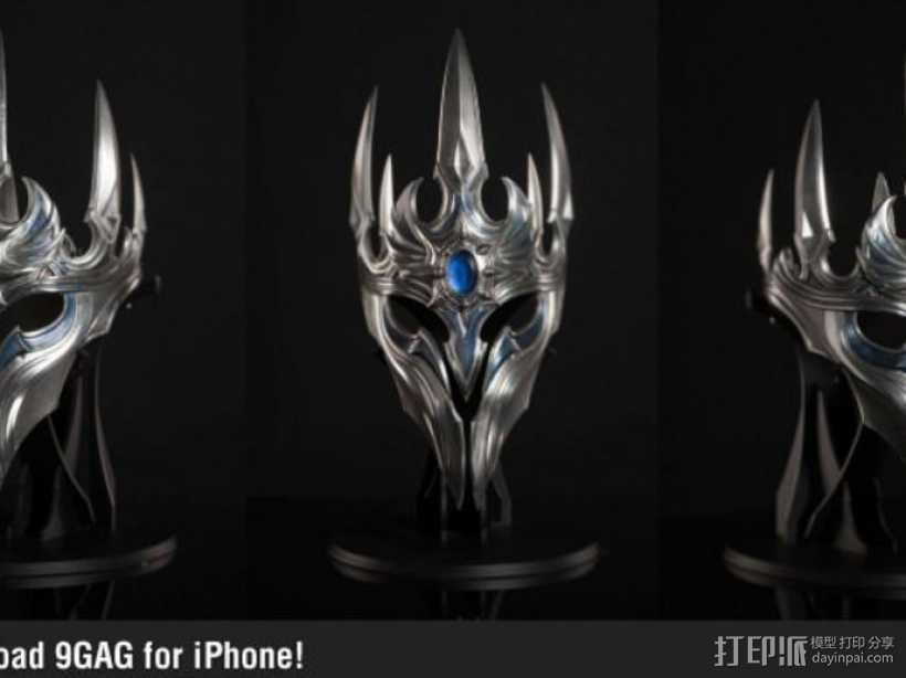 游戏《魔兽世界》巫妖王王冠 3D打印模型渲染图