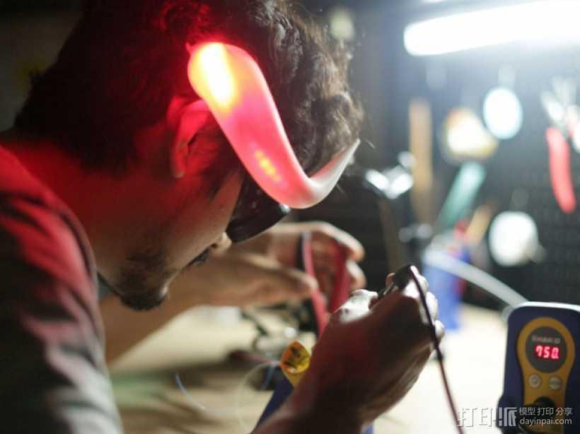 会发光的牛角 3D打印模型渲染图