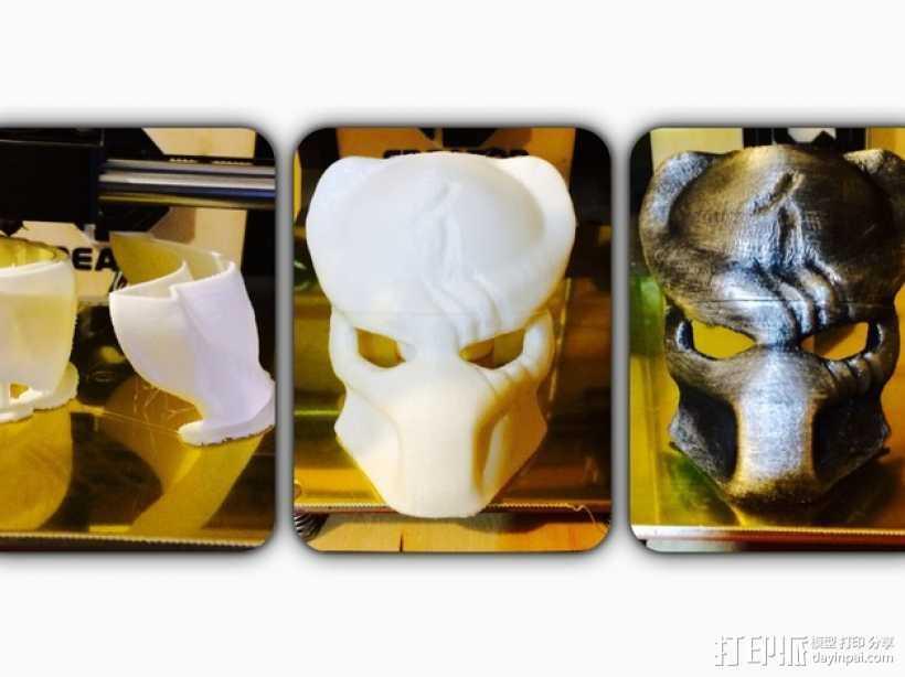 电影《铁血战士》面具 3D打印模型渲染图