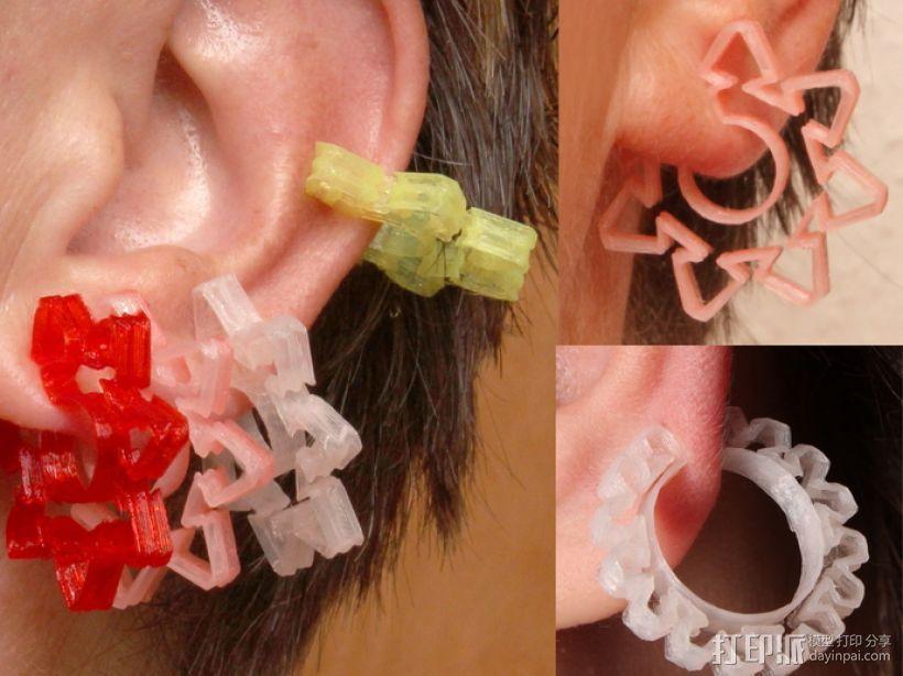 耳环/花瓶/手镯 3D打印模型渲染图