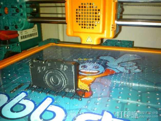 照相机钥匙扣 3D打印模型渲染图