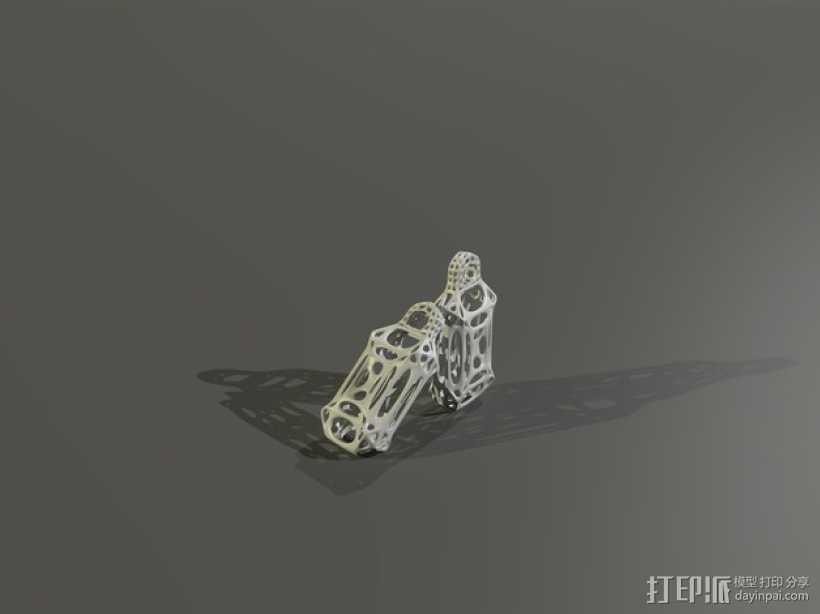 镂空耳环 3D打印模型渲染图