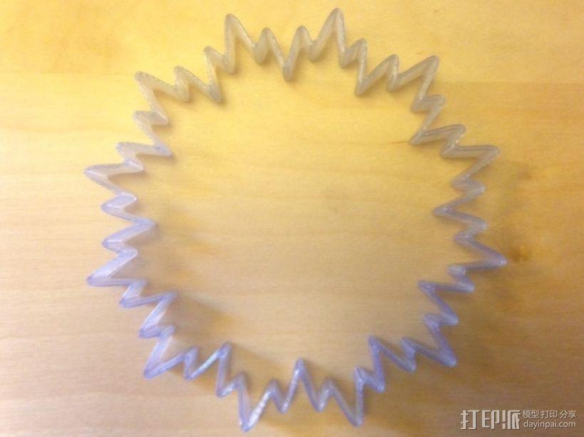 定制化POP手环 3D打印模型渲染图