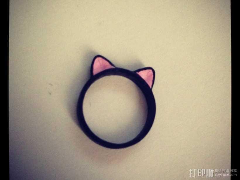 猫耳指环 3D打印模型渲染图