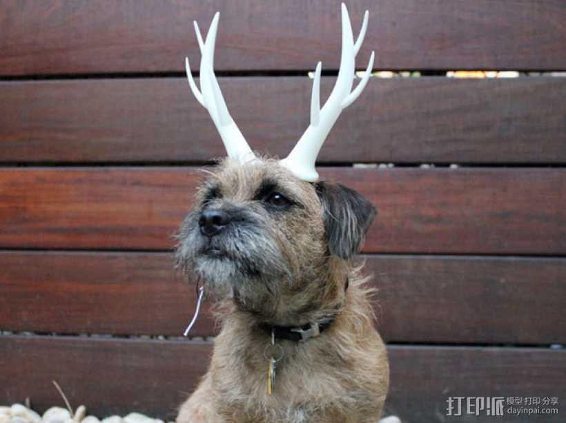 驯鹿角 头饰 3D打印模型渲染图