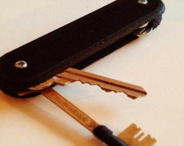 瑞士军刀钥匙架 3D打印模型渲染图