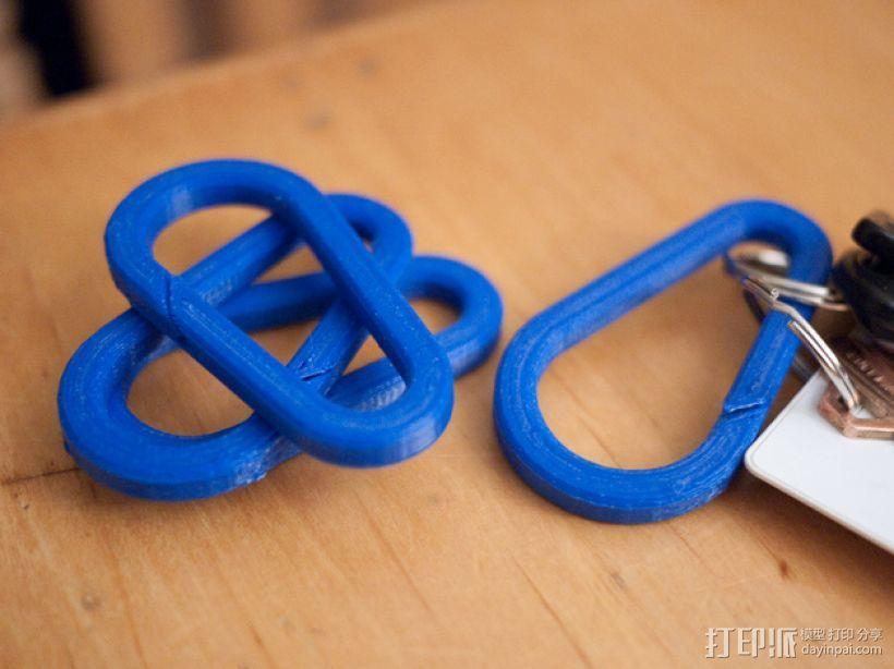 登山扣 登山锁 3D打印模型渲染图