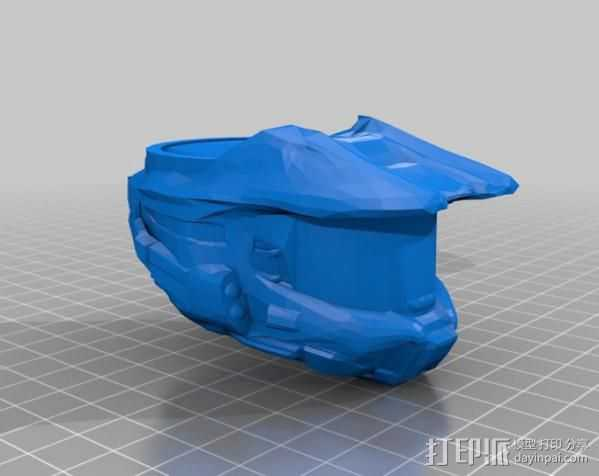 halo 指环 3D打印模型渲染图